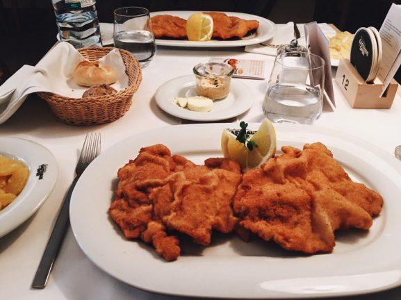 schnitzel en Viena