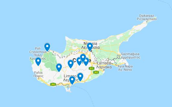 mapa lugares ocultos chipre