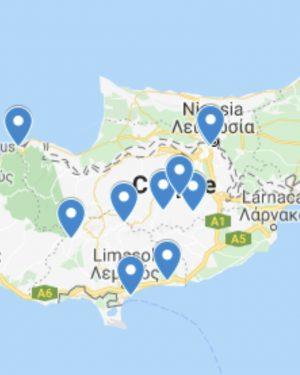 mapa chipre lugares secretos